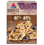 Atkins US Harvest Trail Bars Blueberry Vanilla and Almond Box