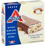 Atkins US Snack Bar - Coconut Almond Delight Box of 5 SALE Best before 28 October 2017