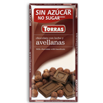 Torras Chocolate Bar - Milk Chocolate and Hazelnut 75g SALE Best before 30 April 2019